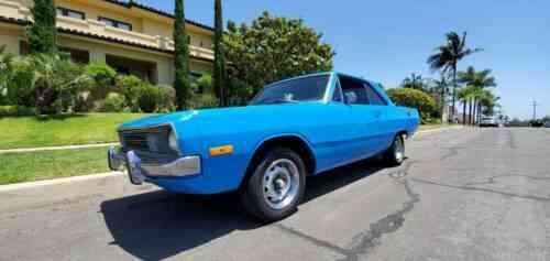 Dodge Dart Swinger, V8, automatic, AC, disc brakes, Petty Blue Mopar, $7950  (1972)