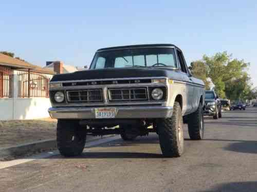 Ford F 250 Highboy 1976 Up For Auction Is This Rust Free Used