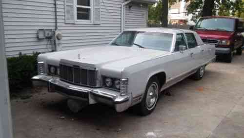 Lincoln Continental Town Car 1976 This Car Was Kept In A Used