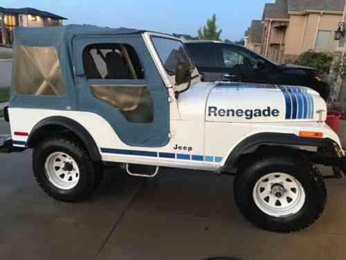 Jeep Wrangler Renegade >> Jeep Wrangler Renegade 1980