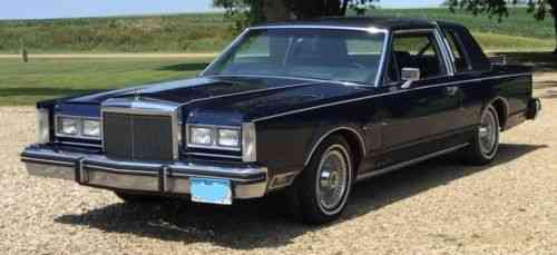 Lincoln Continental Town Coupe 1980 Lincoln Continental Town Used