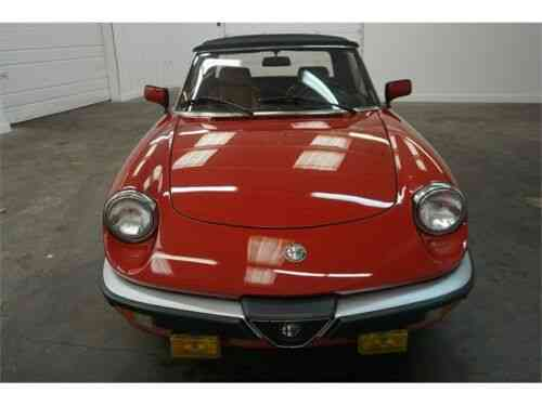 Alfa Romeo Spider Veloce With 2 sets of keys and $6300 in service Receipts   (1986)