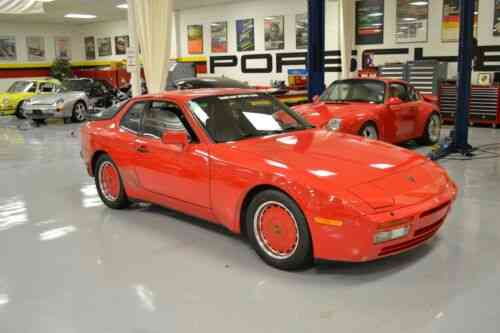Porsche 944 Turbo 73514 Miles Guards Red Hatchback I4 2 5l M Used Classic Cars