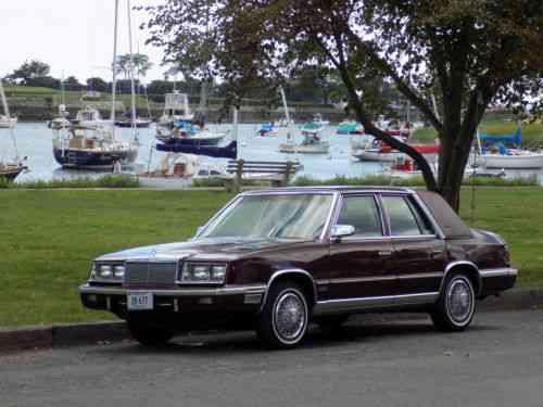 chrysler new yorker 1987 chrysler new yorker 2 4 l turbo 71 used classic cars chrysler new yorker 1987 chrysler new