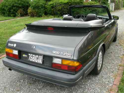 Saab 900 Convertible 1988 Very Low Used Clic Cars