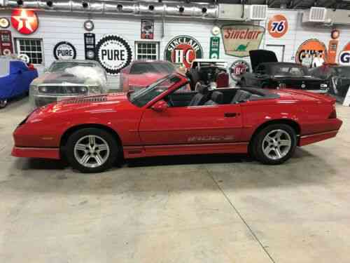 pristine 1990 camaro iroc z convertible red charcoal interior used classic cars carscoms com
