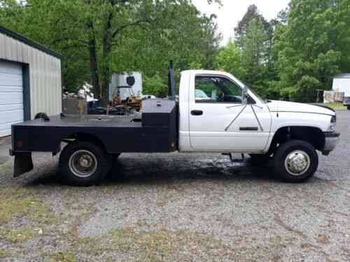 dodge 3500 cummins cab chassis flatbed no reserve 1996 used classic cars carscoms com