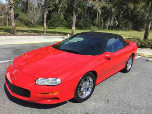like new 2001 red chevy camaro convertible low mileage 73 350 used classic cars like new 2001 red chevy camaro