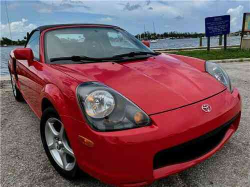 Toyota Mr2 Spyder 2dr Convertible 36 403 Miles Red 5 Speed Manual 2001