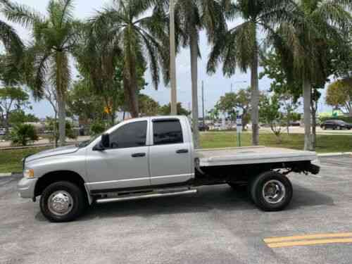 Dodge Ram 3500 Cummins Diesel 4x4 Dually Flat Bed Fifth Wheel