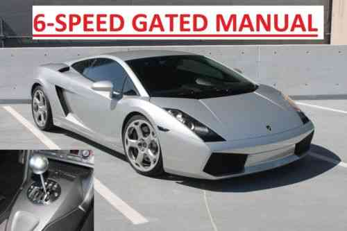 Lamborghini Gallardo 6 Speed Manual 2004 6 Speed Manual Used