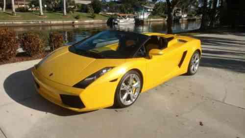 Lamborghini Gallardo Spyder 2008 No Reserve You Bid You Used