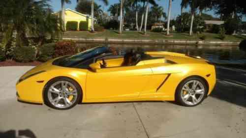 Lamborghini Gallardo Spyder 2008 No Reserve You Bid You Used