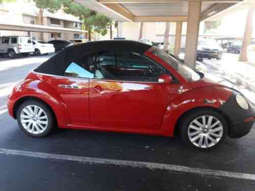 Vw Beetle Red Convertible Only 74k