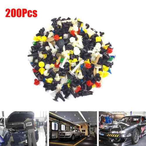 200x Mixed Plastic Auto Fastener Retainer Rivet Clips For Car Bumper Door Fender