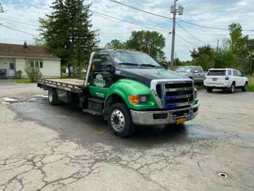 Ford F650 Chevron 21ft Lcg Rollback Flatbed Tow Truck 2011 Vans Suvs And Trucks Cars