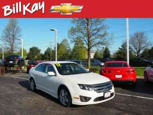 Ford Fusion Sport 72558 Miles White Awd Sport 4dr Sedan Used Classic Cars