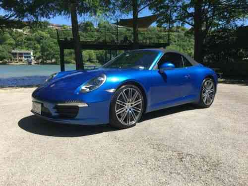 Porsche 911 Carrera Cabriolet Convertible Blue Low Miles Used Classic Cars