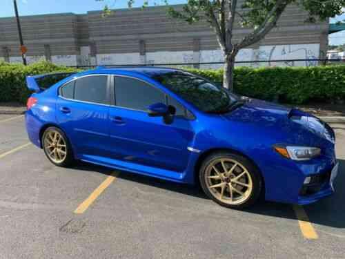 Subaru Wrx Sti Launch Edition >> Subaru Wrx Sti Launch Edition Wr Blue Pearl Gold Forged Bbs Wheels 1 1000 2015