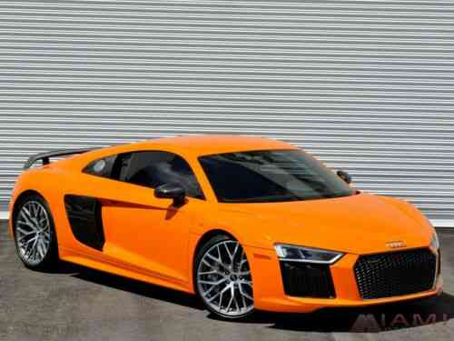 Audi R8 V10 Plus Coupe Solar Orange Msrp 206 650 Diamond Used Classic Cars