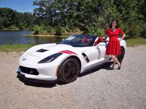 Chevrolet Corvette Grand Sport Convertible 2lt White Red Used