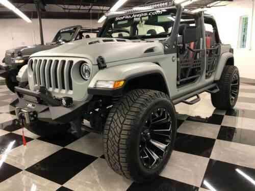 Grey Jeep Wrangler >> Jeep Wrangler Unlimited Custom Sting Grey Kevlar Assault Package 24s Tech 2018