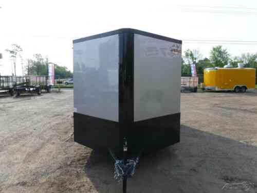 7 x 14 14' Motorcycle Hauler UTV Side ATV Lawn Service Enclosed Cargo  Trailer TX