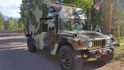 AM GENERAL RARE HMMWV M998 CAMPER CONVERSION NO RESERVE! STRONG 6 5 GEP  MOTOR N