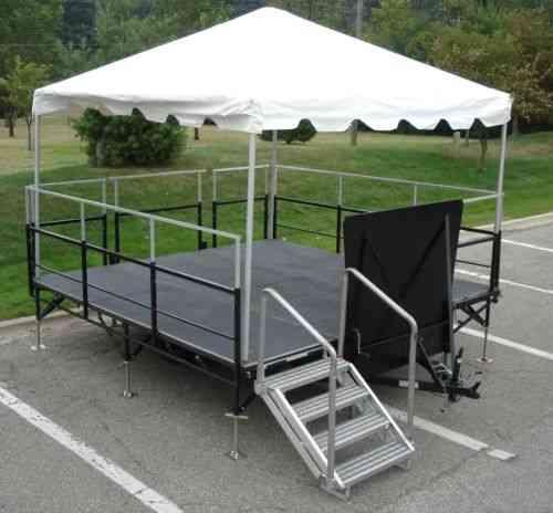 Platform Tent Trailer DJ Band Stand (2005)