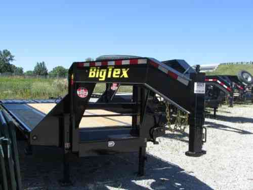 BIG TEX 25' GOOSENECK FLATBED TRAILER W/ MEGA RAMP & TANDEM DUALS @ DR  TRAILER