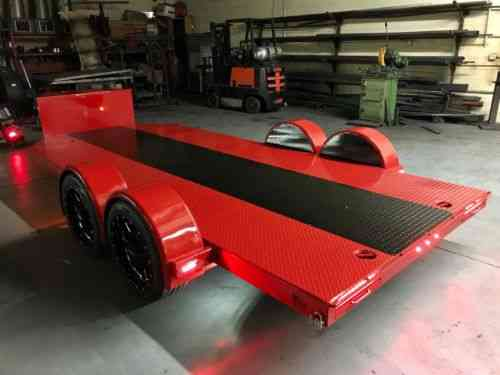 Rv Trailers For Sale >> Custom Car Hauler Trailer Built For Sema By Bear: Vans ...