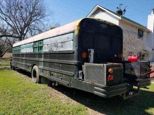 blue bird bluebird school bus conversion converted to a vans suvs