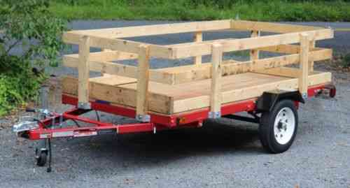 Harbor Freight Utility Cart >> Harbor Freight 4'x8' Utility Trailer With Sides And: Vans, SUVs, and Trucks Cars