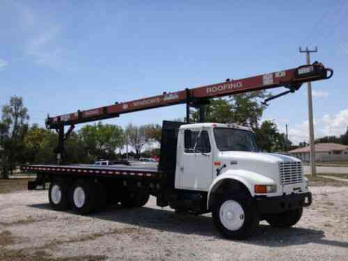 International 4900 Roofing Cleasby Conveyor 6x4 Tandem DT466E Diesel FL  Truck