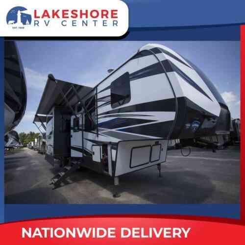 New Keystone Fuzion 357 Fifth Wheel Toy Hauler Camper Rv Black Vans Suvs And Trucks Cars