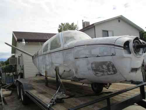 Older Model Beechcraft Bonanza V Tail Model 35 Airplane Project or Parts
